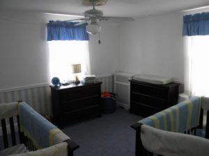 spare bedroom before we closed on the house